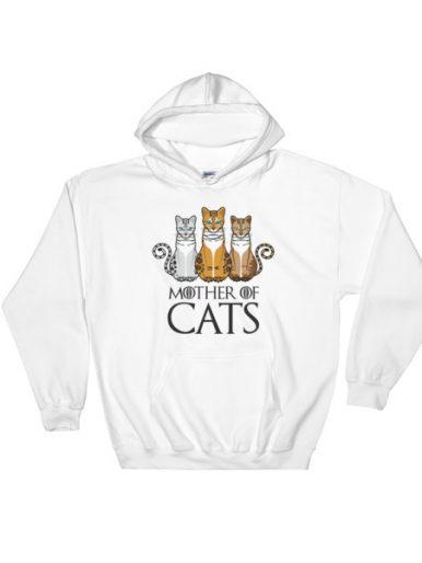 Mother Of Cats Hooded Sweatshirt