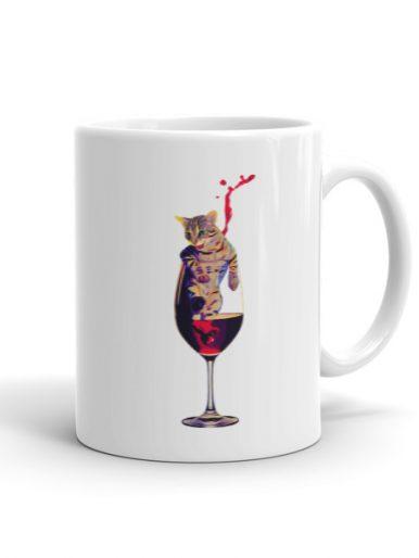 Wine & Cat Mug