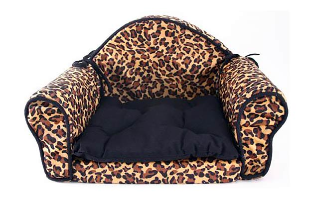 Leopard Print Pet Bed Pillow Cushion - Sofa/Couch