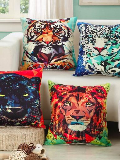 Wild Cats Pillow Covers