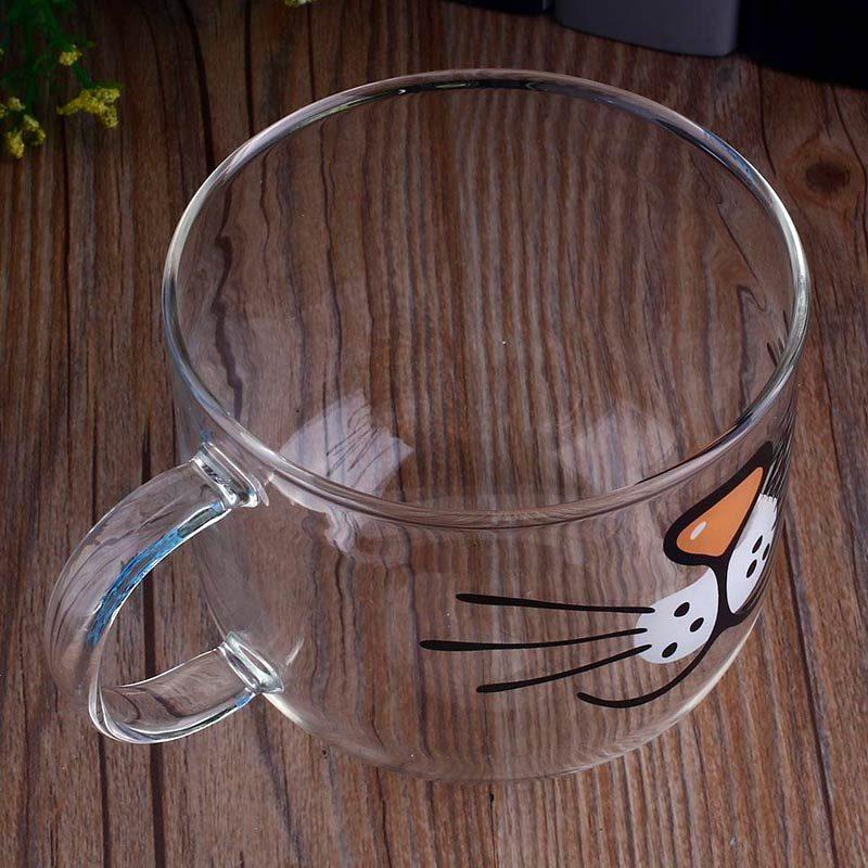 Transparent Cat Face Coffee Mug