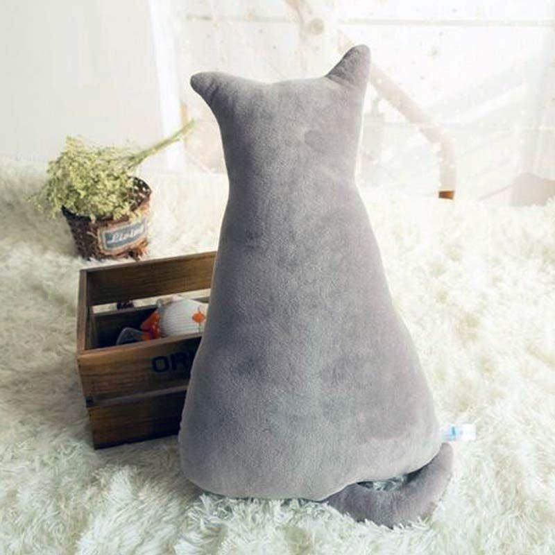 Cute Cat Seat Sofa Pillow Grey