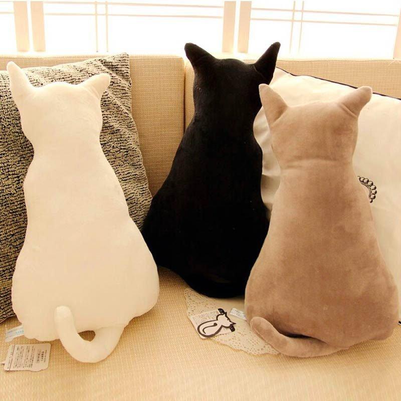 Cute Cats White, Black, Grey Sofa Pillows