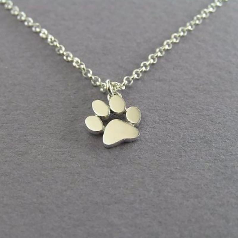 Cute Paw Print Necklace With Chain