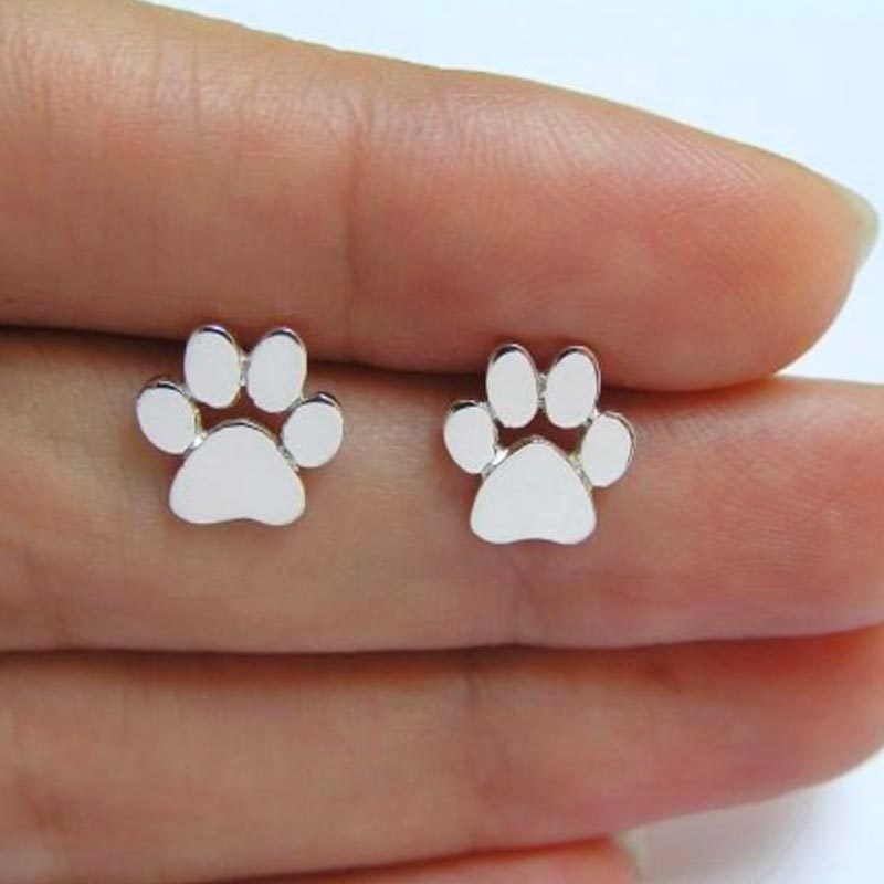 Cute Paw Print Stud Earrings