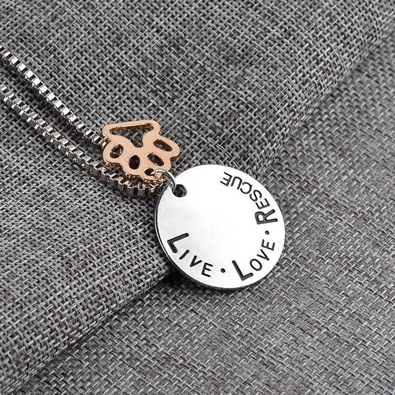 Live, Love, Rescue Necklace