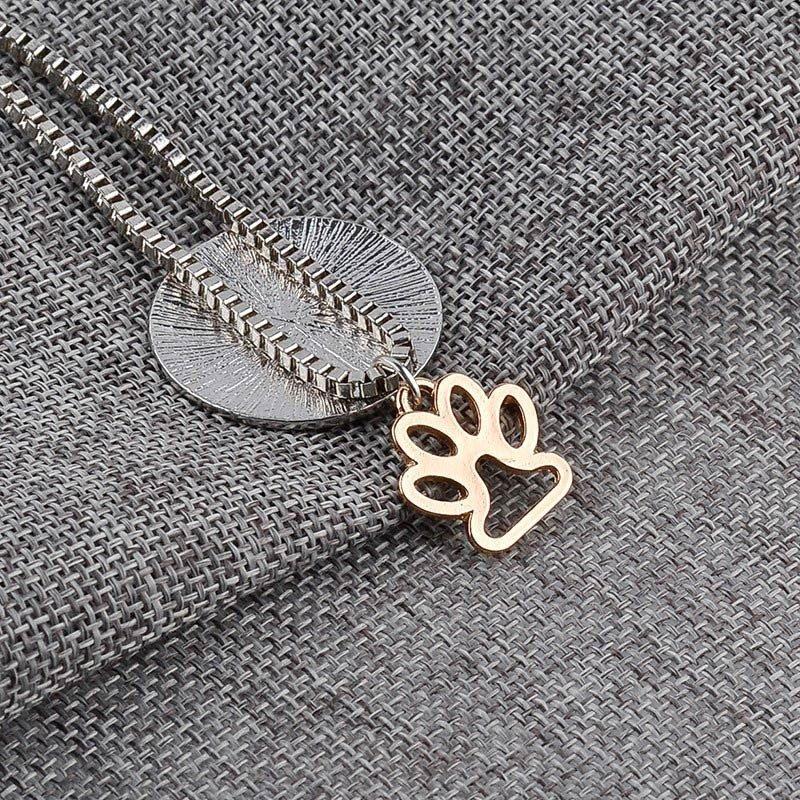 Cat Paw Pendant Necklace
