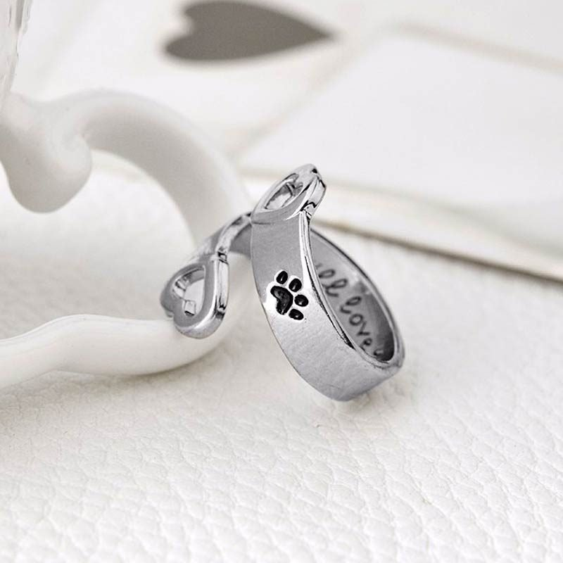 Ring Paw Print Heart