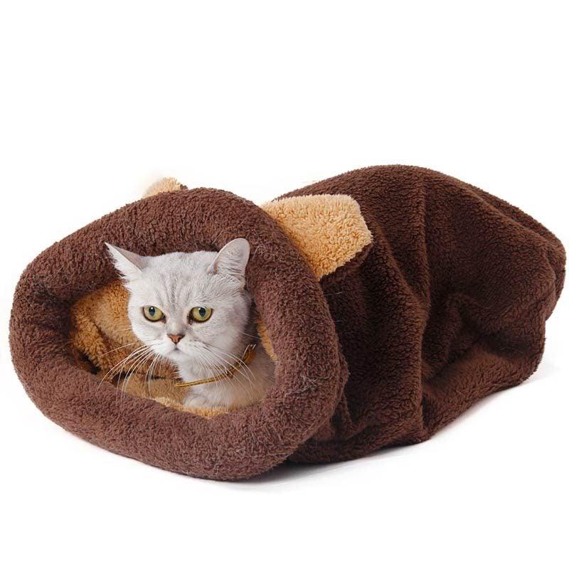 Brown Sleeping Bag for Cat