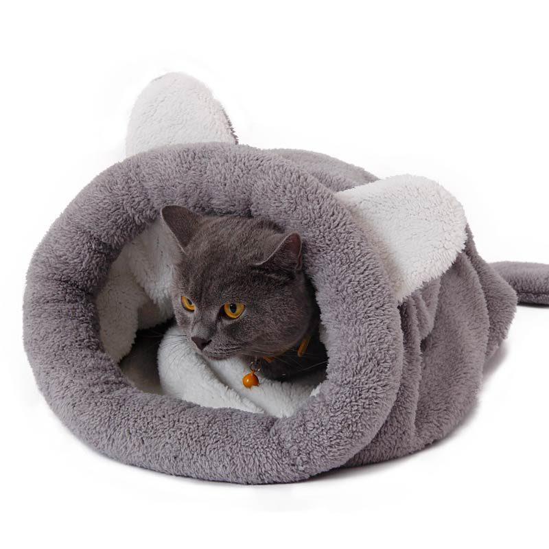 Grey Sleeping Bag for Cats