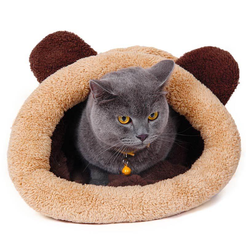 Beige Sleeping Bag for Cats