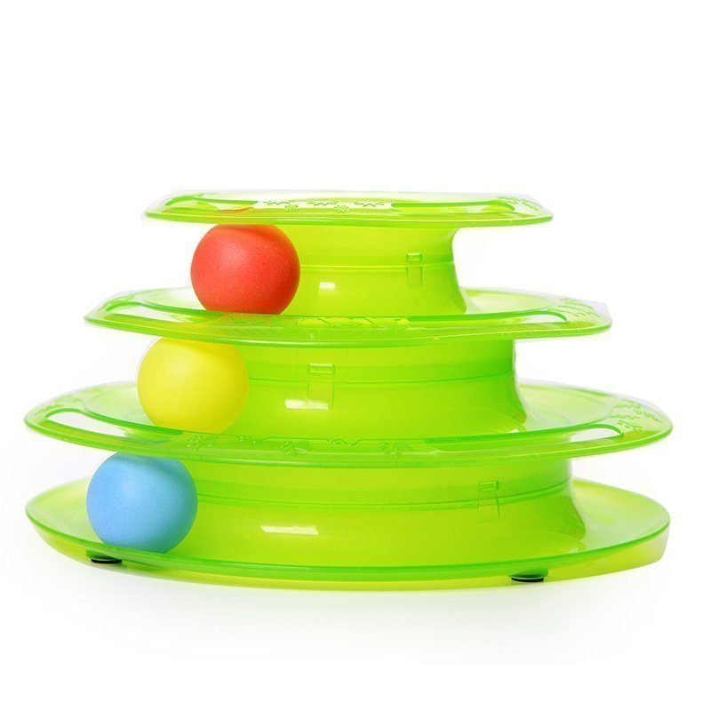 3 Levels Tower Tracks Cat Toy Green