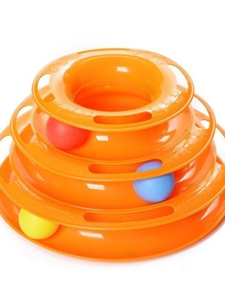 3 Levels Tower Tracks Cat Toy Orange
