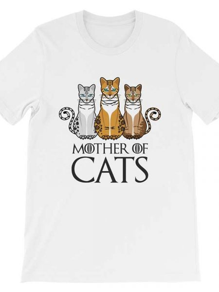 Mother Of Cats T-Shirt Bella White