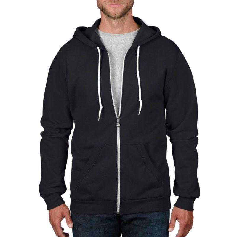 hoodie zip hooded sweatshirt model front