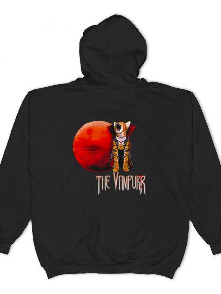 The Vampurr cat zip hooded sweatshirt