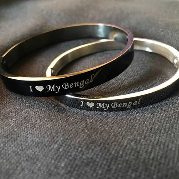 Engraved bangle I love my Bengal